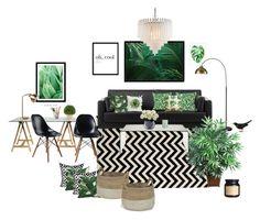Guest room by decopixbytiina on Polyvore featuring interior, interiors, interior design, home, home decor, interior decorating, Vitra, Safavieh, Eichholtz and Art Addiction
