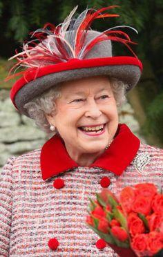 Queen Elizabeth II smiling in style!