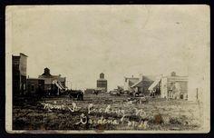 "Gardena, North Dakota ""Main Street Looking North"" 1909"