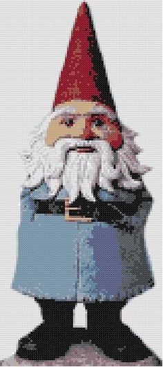 Reginald the Gnome Counted Cross Stitch by WooHooCrossStitch, $9.00