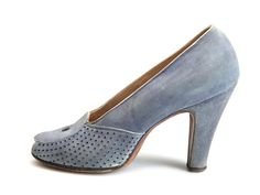 Shoe-Icons / Shoes / Mauve suede open toe pumps with high Spanish heels.