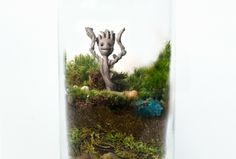 "10 Geeky terrariums you never knew you needed: Baby Groot, TARDIS, Yoda, ET, Game of Thrones, Bilbo and Gandalf [why not How to Train Your Dragon and Picard, Ryker and Data (STNG) ""Lock and load.""?]"