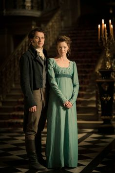 "Elizabeth and Darcy in ""Death Comes to Pemberley"" (2013)"