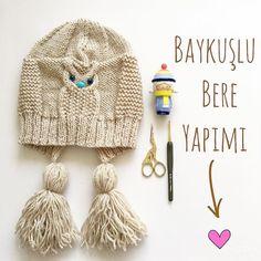 Knitting For Kids, Knitting For Beginners, Baby Knitting Patterns, Knitting Designs, Crochet Beret, Crochet Baby, Knitted Hats, Great Hobbies, Beanie