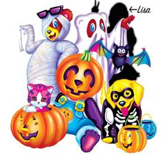 Lisa Frank Halloween characters