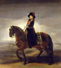"""Maria Luisa, Queen of Spain, on Horseback"" by Francisco de Goya (1799)"