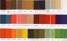 This is my color swatch, everything must be in fall colors.