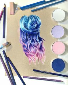 Drawing Hairs Colourfull