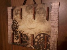 A Multipurpose message board with a steampunk style :)http://www.etsy.com/listing/94179735/vintagesteampunk-multipurpose-message
