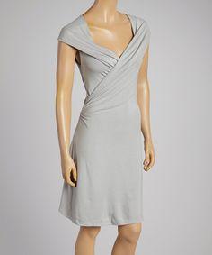 Luna Claire Gray Robin Surplice Dress by Luna Claire #zulily #zulilyfinds