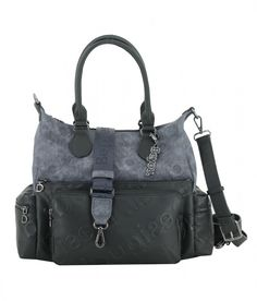 Desigual Opera London Denim Dark Blue Handtasche blau schwarz Opus, London, Clutch, Shopper, Messenger Bag, Satchel, Fashion, Tote Bag, Artificial Leather