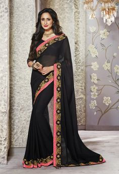Designer saree for party and wedding at #craftshopsindia