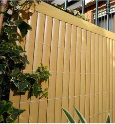 Sichtschutzmatte Sichtschutz kunststoff Sichtschutz Bambus Bambusmatte PVC doppelseitig, farbe Bambus