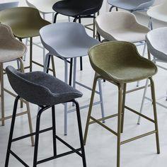 Normann Copenhagen - Hyg Barstool - Barkruk of Bar Chairs, Bar Stools, Dining Chairs, Ikea, Upholstery, Lounge, Kitchen, Room, Furniture