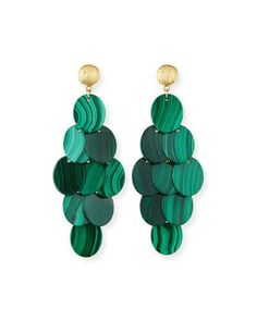 Y3WKZ NEST Jewelry Malachite Cluster Statement Earrings