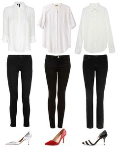 The perfect match for your black jeans? A crisp white blouse.