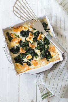 Lasagne con salmone e spinaci