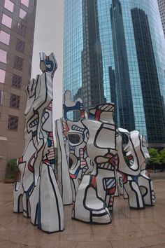 "jean dubuffet sculpture | Jean Dubuffet sculpture ""Monument to the Phantom"" at a corner of Lamar ..."