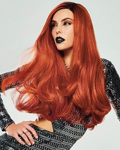 Mane Flame by Hairdo is a vivid and red-hot look with bold and spicy-hot long, loose waves in a head turning shade of rooted red-orange. | Color Shown: Mane Flame | Capsize: Average | Cap Construction: Lace Front | Fiber: Synthetic Heat Friendly Wig Styles, Long Hair Styles, Jon Renau, 100 Human Hair Wigs, Gorgeous Redhead, Velvet Hair, Fantasy Hair, Long Wigs, Wig Making