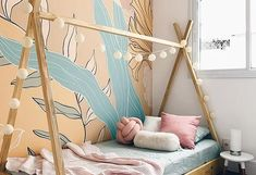 MURAIS RESIDENCIAIS | lano Bedroom Colour Schemes Neutral, Nursery Neutral, Bedroom Colors, Paint My Room, Wall Painting Decor, Baby Bedroom, Baby Boy Rooms, Handmade Home, Decoration