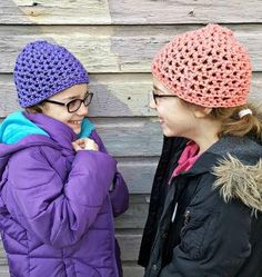 Your whole family can stay warm and stylish this winter with these V-Stitch Hats For All!