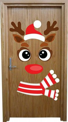 How to make super simple Christmas decorations on a budget - snowman doors # . - How to make super simple Christmas decorations on a budget – snowman doors # …, # - Christmas Door Decorating Contest, Office Christmas Decorations, Christmas Crafts For Kids, Xmas Crafts, Simple Christmas, Christmas Ornaments, School Door Decorations, Christmas Classroom Door, Theme Noel
