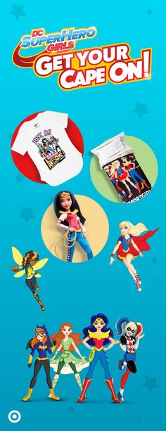 Every young super hero needs the right gear. And we've got just about everything they'll need to make each day a super cool adventure. Deck their secret lair with awesome toys, collectibles & décor. And for the super stylish, there are accessories, apparel & costumes too. So shop all DC Super Hero Girls & let them get their capes on.