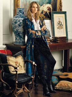 Sanne Vloet in Ralph Lauren Fall Winter 2016 Ad Campaign