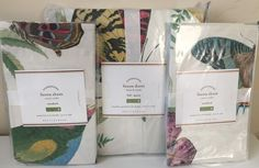 POTTERY BARN FAUNA FULL/QUEEN DUVET + 2 STD SHAMS NEW BIRD BUTTERFLY GARDEN #PotteryBarn