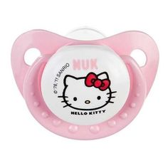 Nuk FC Orthodontic Pacifier Hello Kitty ❤ liked on Polyvore featuring pacifiers