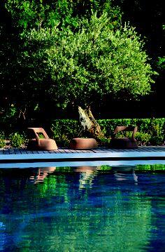 AD Russie / Hugues BOSC architectes / piscine à Eygalières / alpilles / Provence / Michel Semini paysagiste