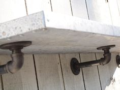 Shelf metal custom listing 3 feet long industrial book shelving pipe brackets. $245.00, via Etsy.  Love this look!