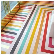 Love the painted floor....!
