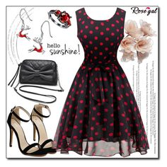 """""""Rosegal 51"""" by fashion-with-lela ❤ liked on Polyvore featuring vintage, cute, polkadot and retro"""