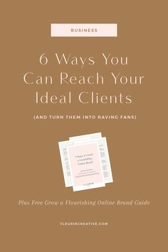 6 Ways You Can Reach Your Ideal Clients Small Business Marketing, Business Branding, Online Business, Media Marketing, Digital Marketing, Online Marketing, Business Design, Content Marketing, Affiliate Marketing