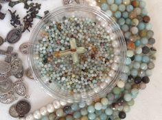 soft mineral with a pop of vibrant turquoise and deep earth. via The Barn on Sweetwood
