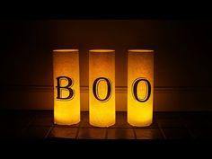 Easy Halloween Luminaries - DIY Halloween Crafts - YouTube