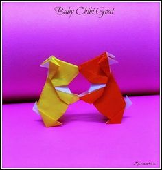 Life's Simple Pleasure: Origami Designs - Baby Chibi Goats
