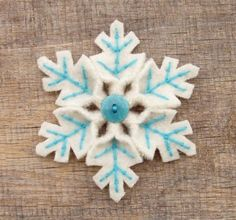 Pretty felt snowflakes from welcomecraft.com. This isn't a tutorial (despite what the title claims) but it's a great idea.