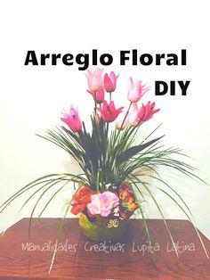 DIY centro floral flores artificiales arrangement of artificial flowers