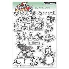 30-143 PB Clear Stamps Joy To The World