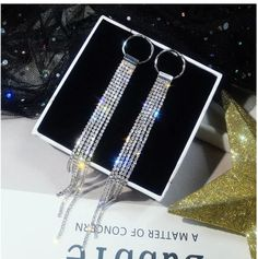 D'arcy Stunning Tassel Drop Earrings - Silver
