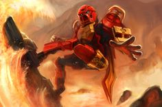 boltgsr:  Tahu 2015 by kep90So have I ever mentioned that one of my favorite parts of Bionicle 2015 is that a lot of the 2001 era fans grew up and are now really good artists because holy crap