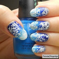 Snowflake Nail Art (and How I Survived an Attack!)   Painted Fingertips