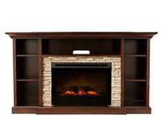 "Merrick 65"" TV Console w/ 25"" Electric Fireplace"