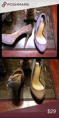Gianni Bini suede taupe shoes Stunningly beautiful! Worn once Gianni Bini Shoes Heels