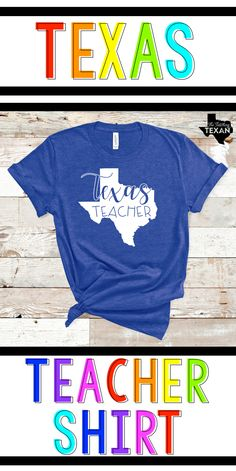 Don't you just love a comfy teacher t-shirt?  These are perfect for teaching on casual dress days and pair perfectly with jeans or colored pants.  I love that Texas featured on this one!