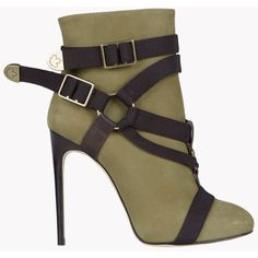 DSQUARED2 Parachute Mobile Ankle Boots (3.805 BRL) ❤ liked on Polyvore featuring shoes, boots, ankle booties, military green, army green boots, dsquared2, ankle bootie boots, olive booties and olive green booties