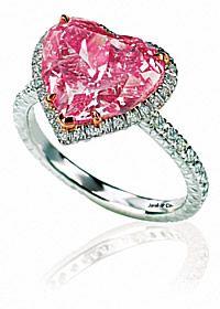 Jacob n Co. Pink diamond heart engagement ring - Romantic, isn't it?