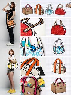 Something fun! 3D bags that look 2D